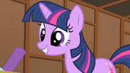 Twilight Sparkle listening intently S1E18