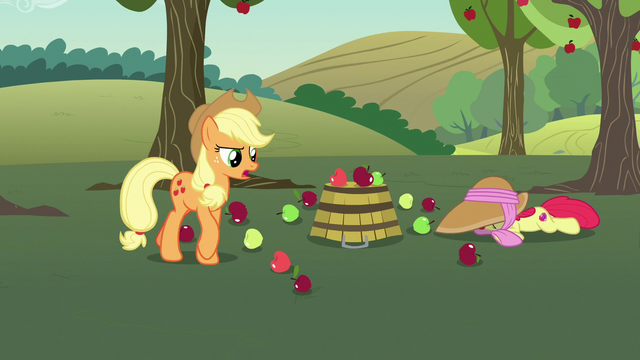 """File:Applejack """"you're doublin' our workload here!"""" S7E9.png"""