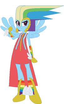 FANMADE Rainbow Dash Human Gala 2
