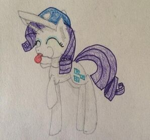 FANMADE Rarity blowing whistle