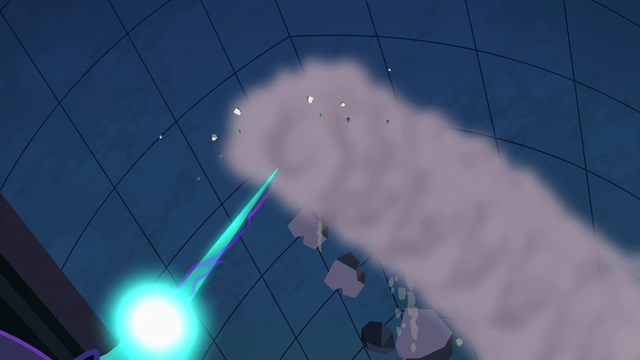 File:Nightmare Moon's magic aimed at the ceiling S4E02.png
