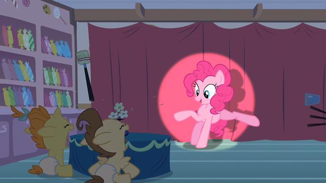 File:Pinkie Pie kicks stuff away S2E13.png