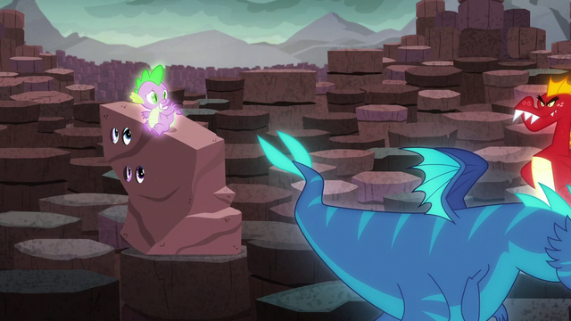 File:Spike waves at a blue dragon; Garble walks into frame S6E5.png