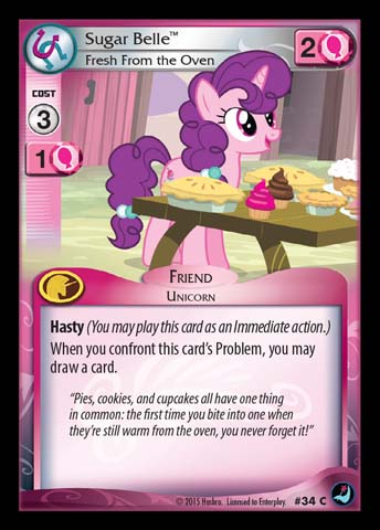 File:Sugar Belle, Fresh From the Oven card MLP CCG.jpg