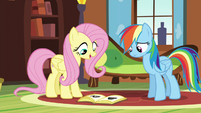 Fluttershy explaining hibernation to Rainbow S5E5