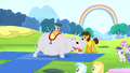 Foal riding a hippo S4E12.png