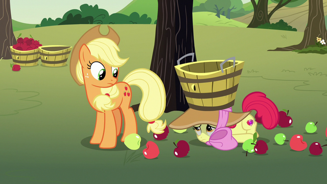 File:Applejack notices Apple Bloom on the ground S7E9.png