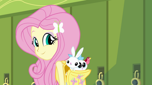 File:Fluttershy with animal friends EG.png
