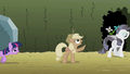 Applejack pointing to the sky S2E01.png
