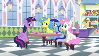 "Minuette ""it might've stung a little bit when you ran off to Ponyville"" S5E12"
