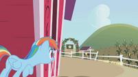 Rainbow hides behind the barn S1E05