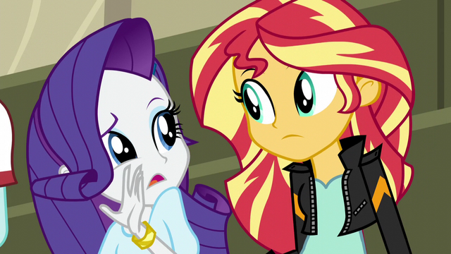 File:Rarity whispering to Sunset Shimmer EG3.png