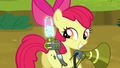 Apple Bloom happy with the twittermites she caught S5E04.png