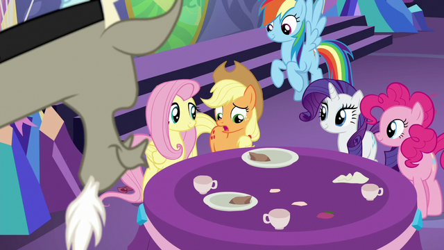 "File:Applejack ""she didn't tell any of us"" S7E1.png"