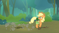 Applejack sees Scootaloo fall through the ground S3E06