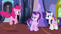 Pinkie Pie hopping up to Starlight Glimmer S6E21.png