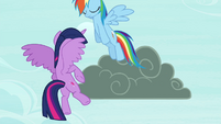 Rainbow flying off S4E21