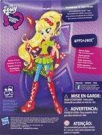 Friendship Games Sporty Style Applejack doll back of packaging