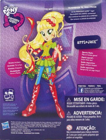 File:Friendship Games Sporty Style Applejack doll back of packaging.jpg
