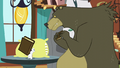 Harry and mouse with copies of Wuthering Hooves S5E23.png