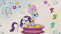 Rarity designing outfit for Rainbow Dash RPBB3.png