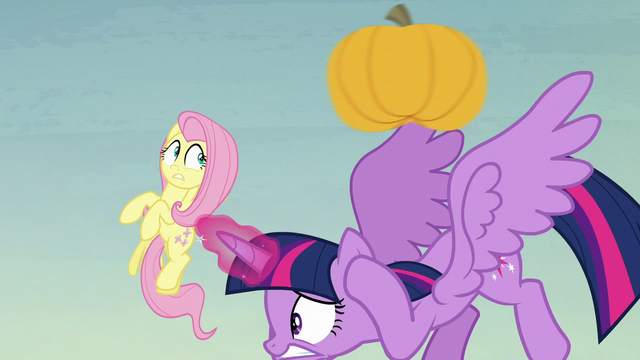 File:Twilight and Fluttershy dodge yet another pumpkin S5E23.png