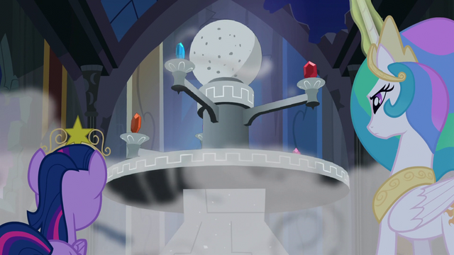File:Twilight and Princess Celestia look at the Elements S4E02.png