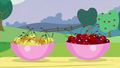 Bowls containing freshly picked cherries from Cherry Jubilee's farm S5E24.png