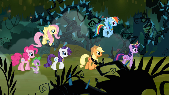 File:Main 6 and Spike walking through the forest S4E02.png
