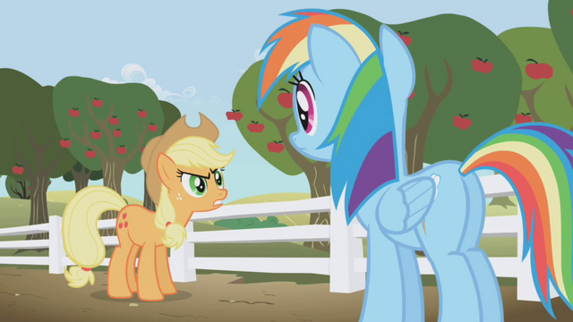 File:Rainbow Dash accused of spying by Applejack S1E3.png