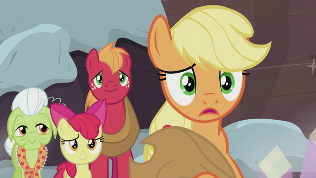 "File:Applejack ""the same traditions right away"" S5E20.png"