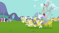 Celestia and Discord arrive to Ponyville S3E10.png