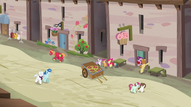 File:Distance shot of Big Mac walking away from Sugar Belle's house S7E8.png