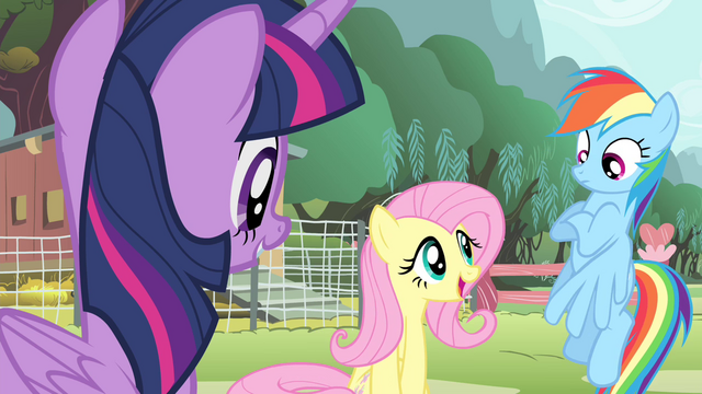 File:Fluttershy 'are singing at the Pet Center fundraiser' S4E14.png