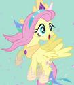 Fluttershy Celestia costume ID S4E21