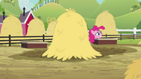 Pinkie Pie sees her clones hopping away S3E03