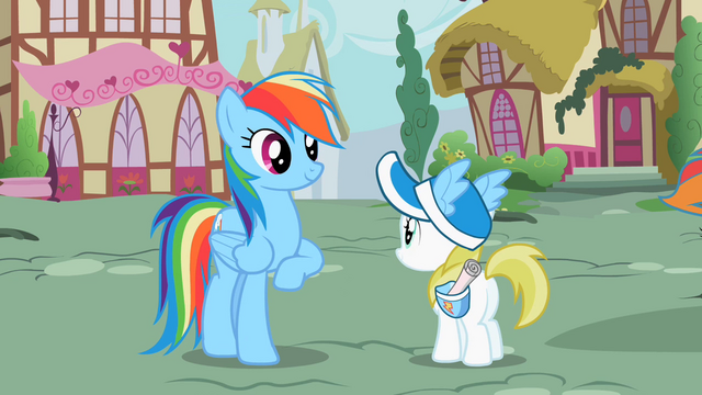 File:Rainbow Dash with her fan S2E8.png