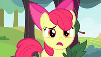 Apple Bloom notices leaves falling S4E17