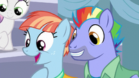Bow and Windy excited by Scootaloo's story S7E7