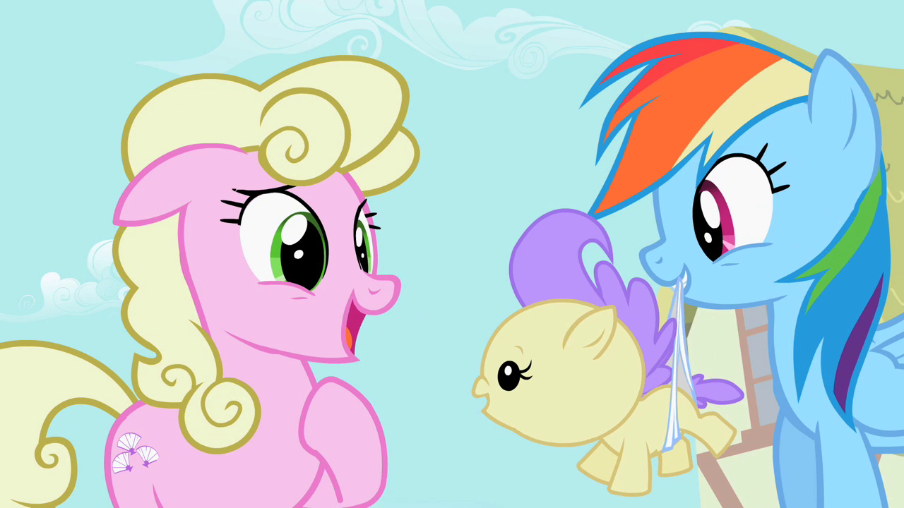 Image  Rainbow Dash Returning Baby To Mother S2E08png  My