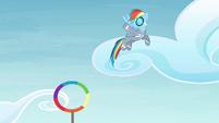 Rainbow waving S4E10