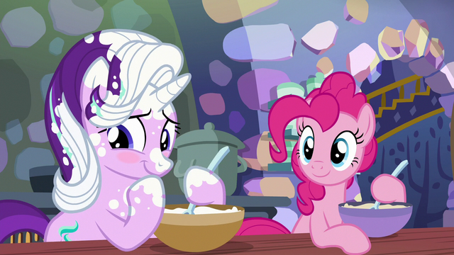 File:Starlight blushes as Pinkie Pie smiles S6E21.png