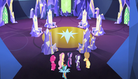 The Mane 6 approaching their thrones S5E01