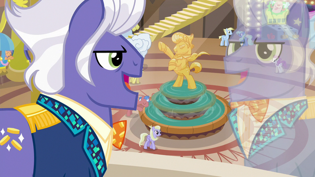 "File:Gladmane ""you're the only ponies to ever figure out"" S6E20.png"