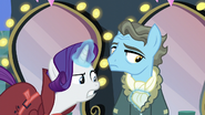 Rarity about to loosen Wind Rider's scarf S5E15
