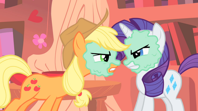 File:AJ and Rarity already at each other's throats S1E08.png