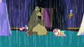 Fluttershy and animals in a castle flood S6E21.png