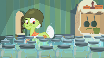 Granny Smith inspecting jars 1 S2E12.png