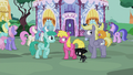 Ponies outside Carousel Boutique S5E9.png