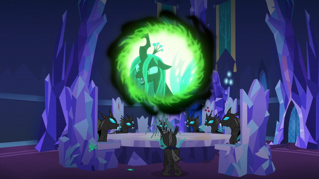 """File:Queen Chrysalis """"we thought too small last time"""" S6E25.png"""